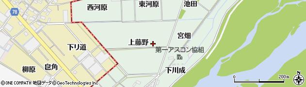 愛知県岡崎市下佐々木町上藤野周辺の地図