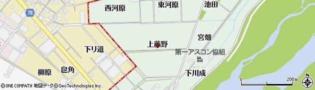 愛知県岡崎市下佐々木町(上藤野)周辺の地図