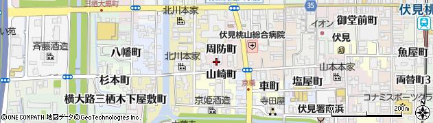 京都府京都市伏見区周防町周辺の地図