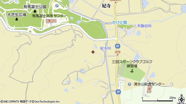 〒669-1505 兵庫県三田市尼寺の地図