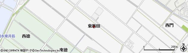 愛知県安城市堀内町(東新田)周辺の地図