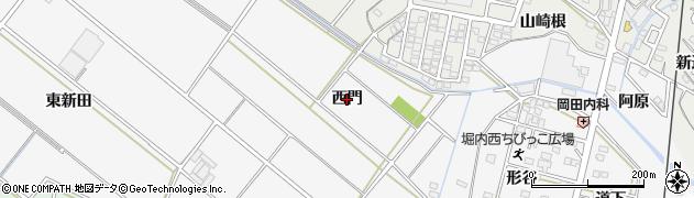 愛知県安城市堀内町(西門)周辺の地図