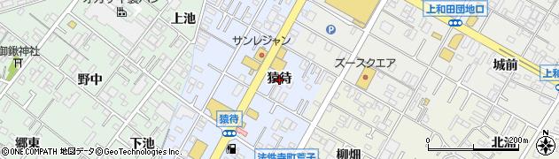 愛知県岡崎市法性寺町(猿待)周辺の地図