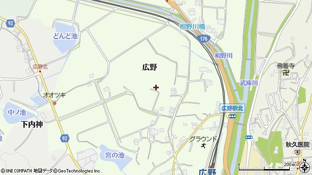 〒669-1331 兵庫県三田市広野の地図