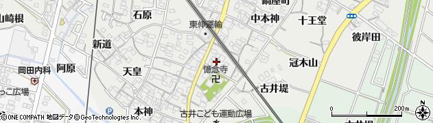 愛知県安城市古井町(桜塚)周辺の地図