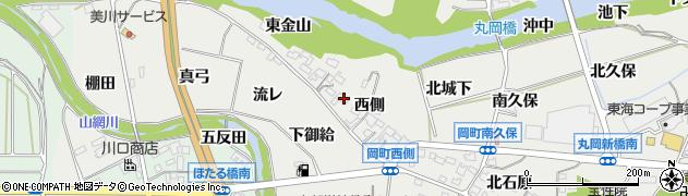 愛知県岡崎市岡町(西側)周辺の地図