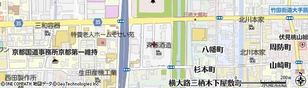 京都府京都市伏見区横大路三栖山城屋敷町周辺の地図