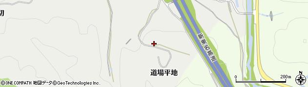 愛知県岡崎市生平町(道場平地)周辺の地図