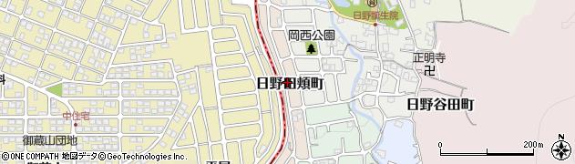 京都府京都市伏見区日野田頬町周辺の地図