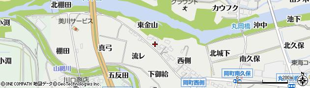 愛知県岡崎市岡町(東金山)周辺の地図
