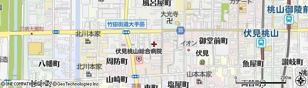 京都府京都市伏見区納屋町周辺の地図