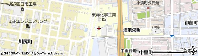 三重県四日市市塩浜栄町周辺の地図