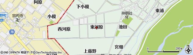 愛知県岡崎市下佐々木町(東河原)周辺の地図