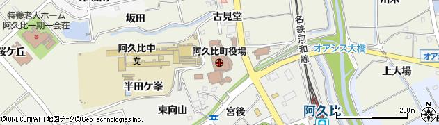 愛知県知多郡阿久比町周辺の地図