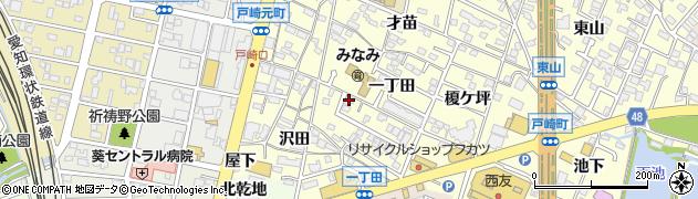 愛知県岡崎市戸崎町(一丁田)周辺の地図