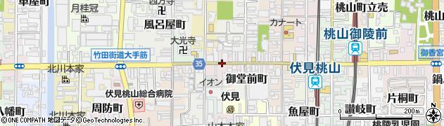 京都府京都市伏見区東大手町周辺の地図