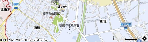 愛知県安城市榎前町(宮下)周辺の地図