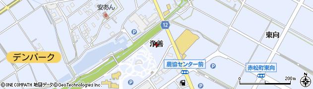 愛知県安城市赤松町(浄善)周辺の地図
