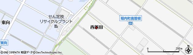 愛知県安城市堀内町(西新田)周辺の地図