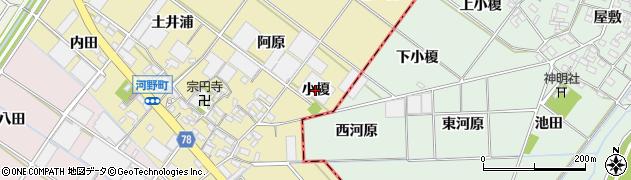 愛知県安城市河野町(小榎)周辺の地図
