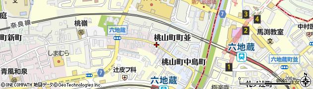 京都府京都市伏見区桃山町見附町周辺の地図