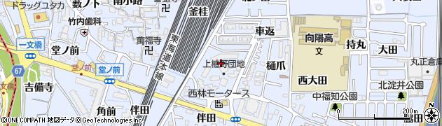 府営上植野団地周辺の地図