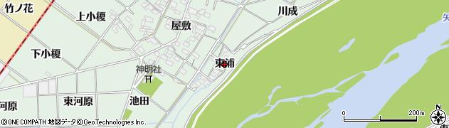 愛知県岡崎市下佐々木町(東浦)周辺の地図