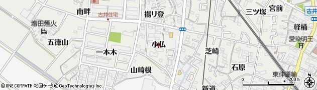 愛知県安城市古井町(小仏)周辺の地図