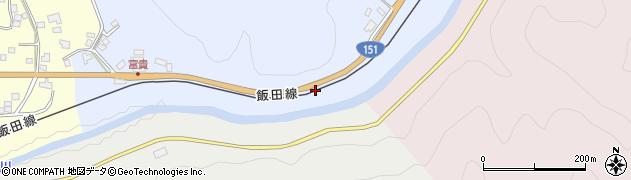 愛知県新城市富栄(トヲノ元)周辺の地図