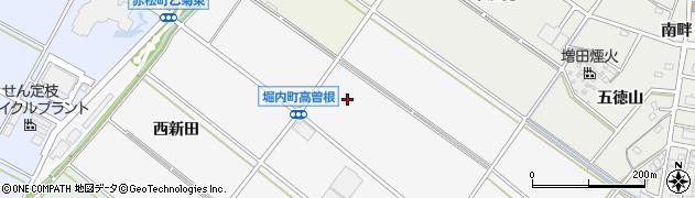 愛知県安城市堀内町(高曽根)周辺の地図