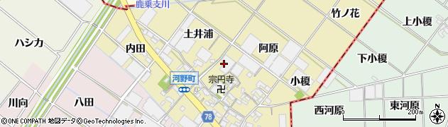 愛知県安城市河野町周辺の地図