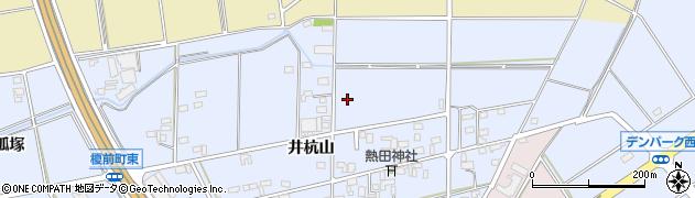愛知県安城市榎前町(井杭山)周辺の地図