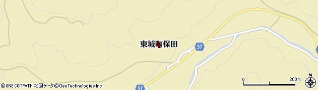 広島県庄原市東城町保田周辺の地図