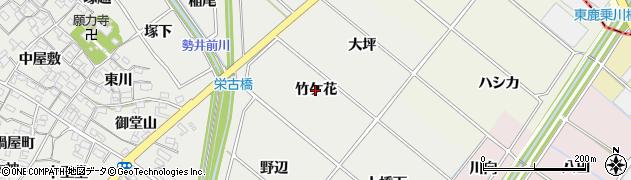 愛知県安城市古井町(竹ケ花)周辺の地図