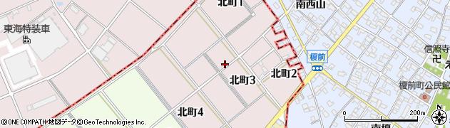 愛知県碧南市北町周辺の地図