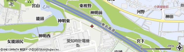 愛知県岡崎市岡町(上野川)周辺の地図