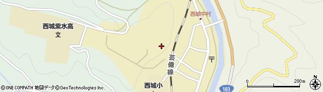 広島県庄原市西城町西城周辺の地図