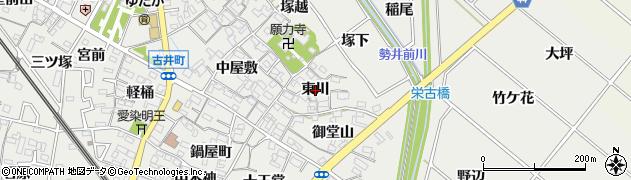 愛知県安城市古井町(東川)周辺の地図