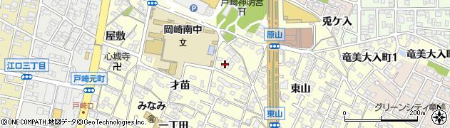 愛知県岡崎市戸崎町(野畔)周辺の地図