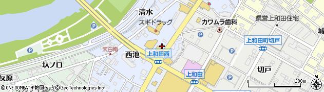 リュシール周辺の地図