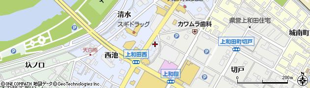 愛知県岡崎市天白町(東池)周辺の地図