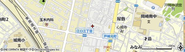 愛知県岡崎市戸崎元町周辺の地図