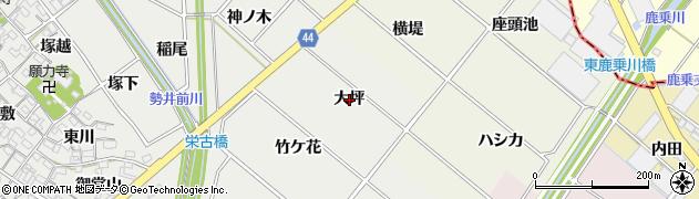愛知県安城市古井町(大坪)周辺の地図