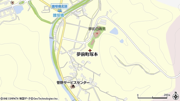 〒671-2135 兵庫県姫路市夢前町塚本の地図
