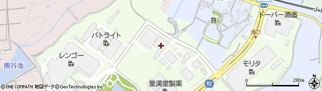 兵庫県三田市テクノパーク周辺の地図