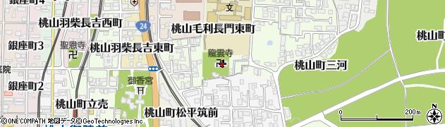 桃山善光寺周辺の地図