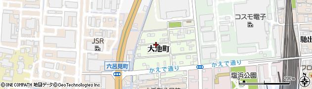 三重県四日市市大池町周辺の地図