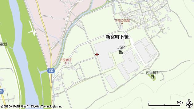 〒679-4304 兵庫県たつの市新宮町下笹の地図