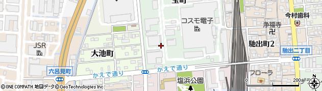 三重県四日市市宝町周辺の地図