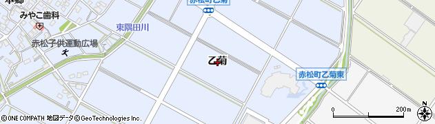 愛知県安城市赤松町(乙菊)周辺の地図